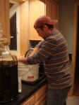 Sanitizing the bottling bucket and siphon